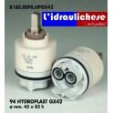 CARTUCCIA PER MISCELATORE 94 HYDROPLAST HPGX42 MM.43X82h