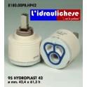CARTUCCIA PER MISCELATORE 95 HYDROPLAST 42 MM.42,4X61.3h