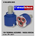 CARTUCCIA PER MISCELATORE 104 TEOREMA AZZURRO-VASCA DOCCIA MM.39X66 H