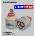 CARTUCCIA PER MISCELATORE 116 ZAZZERI MM.35.5X60 H