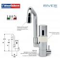 RIVER RUBINETTO MISCELATORE  ELETTRONICO DA LAVELLO E2110