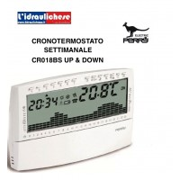 CRONOTERMOSTATO PERRY BIANCO CR018BS VERSIONE UP & DOWN SETTIMANALE