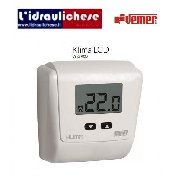 termostato ambiente vemer klima lcd ve729000 lidraulichese