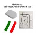 SEDILE NON ORIGINALE MADE IN ITALY PESANTE COLORE BIANCO EUROPEO IN MDS COMPATIBILE PER WC CALLA DELLA DITTA IDEAL STANDARD