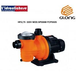 Elettropompa centrifughe autoadescante GLONG  per ricircolo Piscina hp.0,75 220v