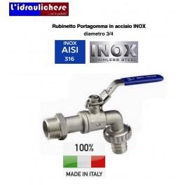 RUBINETTO PORTAGOMMA A SFERA TOTALMENTE IN ACCIAO INOX 316 DIAMETRO 3/4