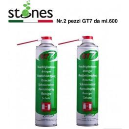 GT7 Stones Olio lubrificante, penetrante,confezione  due p/z da ml.600