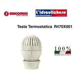 Testa termostatica GIACOMINI T470 con sensore a liquido, sistema di aggancio rapido