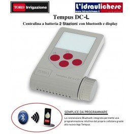 Programmatore a batteria TORO 2 stazioni con bluetooth e display LCD DC