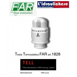 Valvola termostatica FAR a sensore di liquido art.1828