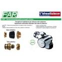 Valvola termostatizzabile LadyFAR  angolo sinistro completa di calotta e adattatore