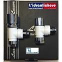 Kit Luxor composto da valvola,detentore e due adattatori per collegamento ala tubazione