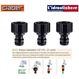 Raccordo rapido Claber Presa Rubinetto 1/2 Sfuso Art. 8626 (TRE PEZZI)