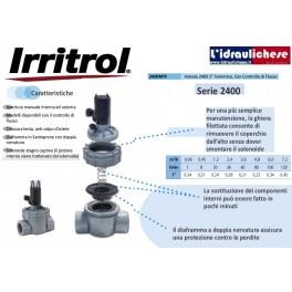 """ELETTROVALVOLA IRRITROL 2400MTF 1"""" FF CON CONTROLLO DI FLUSSO"""