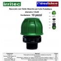 Raccordo con filetto maschio IRRITEC 1/2X20 Confezione 10 Pezzi