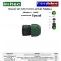Raccordo con filetto femmina IRRITEC 1.1/4x40 Confezione 5 Pezzi