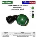 Gomito IRRITEC Femmina 25x3/4 Confezione 10 Pezzi
