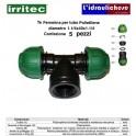 Te IRRITEC femmina 40x1.1/4x40 Confezione 5 Pezzi
