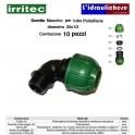 Gomito IRRITEC Maschio 20x1/2 Confezione 10 Pezzi