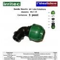 Gomito IRRITEC Maschio 40x1.1/4 Confezione 5 Pezzi