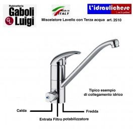 Gruppo lavello miscelatore Ceramico GABOLI art.2510 con terza via