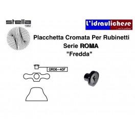 """Ricambio Portaplacchetta cromo Serie Roma Da 1/2"""" acqua fredda Stella GR06-40FCR"""