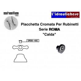 """Ricambio Portaplacchetta cromo Serie Roma Da 1/2"""" acqua calda Stella GR06-40CCR"""