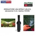 IRRIGATORE RAIN-BIRD SPRY US 215 CM.5 CON TESTINA REGOLABILE 0-360° 15-VAN