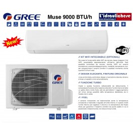 GREE MONOSPLIT DC INVERTER MUSE 9000 BTU/h - R32 -