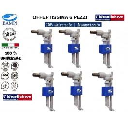 """Rubinetto galleggiante chiusura magnetica 3/8 attacco laterale BAMPI  """"Offerta 6 Pezzi"""""""