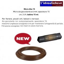 ALA GOCCIOLANTE MICRO MT.15 DIAMETRO 6mm  PASSO 15