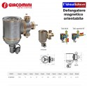 Giacomini R146C Defangatore ciclonico e magnetico in ottone diametro 3/4
