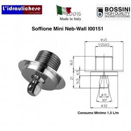 SOFFIONE DOCCIA BOSSINI IN OTTONE PESANTE I00151