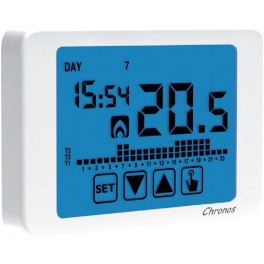 CRONOTERMOSTATO VEMER CHRONOS TOUCH SCREEN BIANCO-